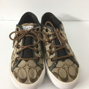 Coach Signature Fabric & Leather Sneakers